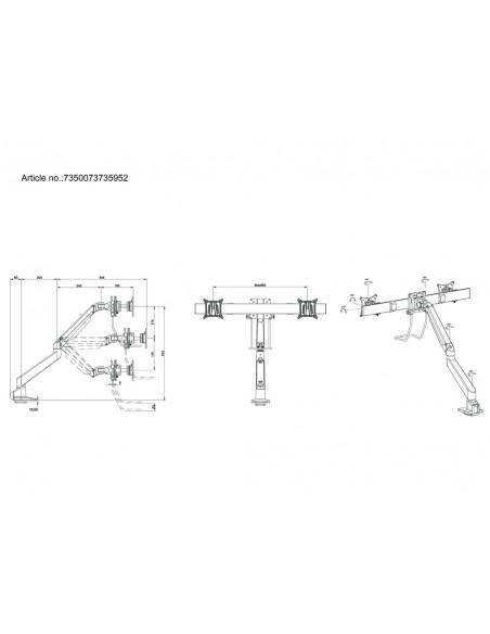 Multibrackets M VESA Gas Lift Arm Single Black HD w. Duo Crossbar Multibrackets 7350073735952 - 11
