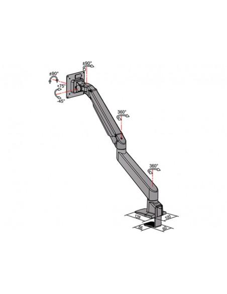 """Multibrackets 5952 fäste och ställ till bildskärm 71.1 cm (28"""") Klämma Svart Multibrackets 7350073735952 - 13"""