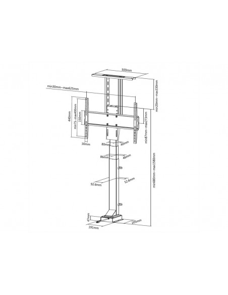 "Multibrackets 5969 tv-fäste 165.1 cm (65"") Svart Multibrackets 7350073735969 - 6"
