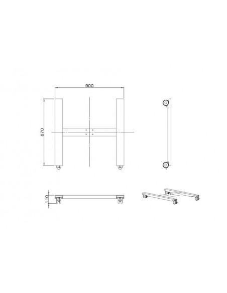 Multibrackets M Public Display Stand Wheelbase HD B2B Black Multibrackets 7350073736003 - 7