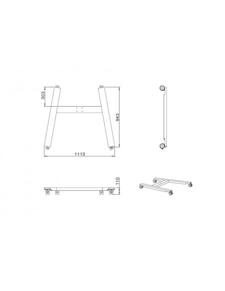 Multibrackets M Public Display Stand Wheelbase HD Black Multibrackets 7350073736027 - 6