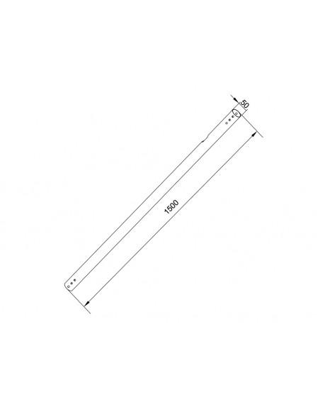 Multibrackets M Pro Series - Extension Pipe 1.5m White Multibrackets 7350073736157 - 2