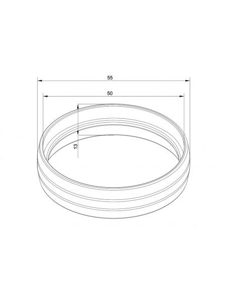 Multibrackets M Pro Series - External Pipe Cover Chrome Multibrackets 7350073736218 - 2