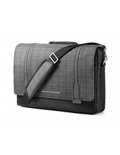 """HP Slim Ultrabook Messenger laukku kannettavalle tietokoneelle 39.6 cm (15.6"""") Lähettilaukku Musta, Harmaa Hp F3W14AA - 1"""