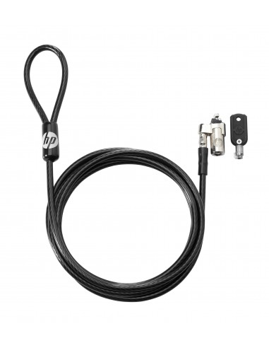 HP Keyed Cable Lock 10 mm kaapelilukko Musta 1.83 m Hp T1A62AA - 1