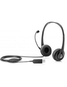 HP Stereo USB Headset Kuulokkeet Pääpanta Musta Hp T1A67AA - 1