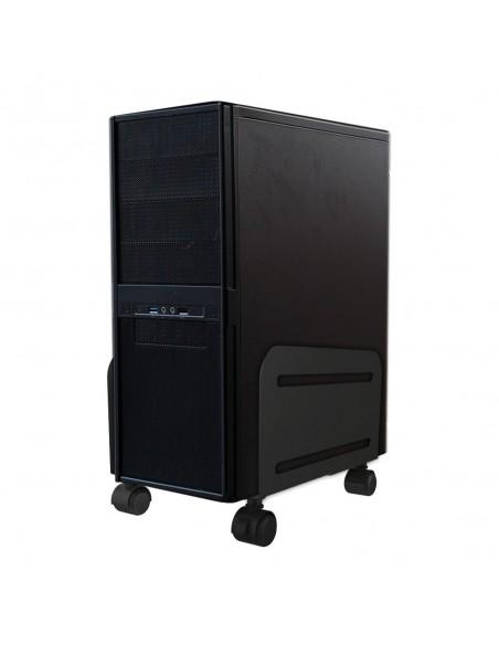 Newstar CPU-M100 Keskusyksikköteline pyöräalustalla Musta Newstar CPU-M100BLACK - 1