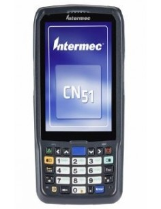 "Intermec CN51 mobiilitietokone 10.2 cm (4"") 480 x 800 pikseliä Kosketusnäyttö 350 g Musta Intermec CN51AN1NCU2W1000 - 1"