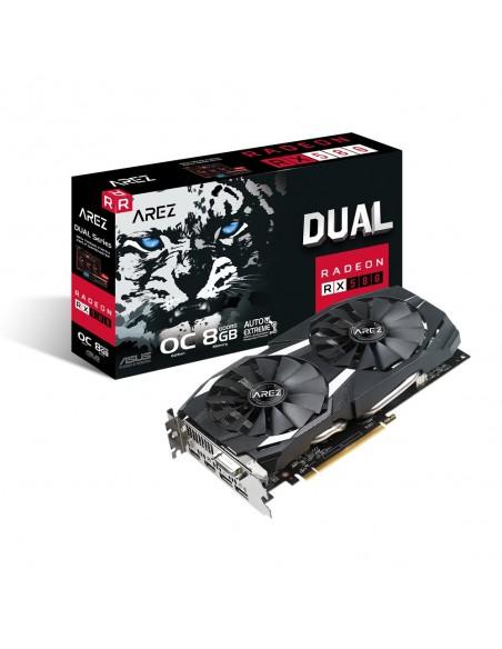 ASUS AREZ-DUAL-RX580-O8G AMD Radeon RX 580 8 GB GDDR5 Asus 90YV0AQB-M0NA00 - 1