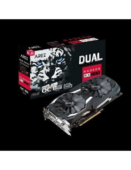 ASUS AREZ-DUAL-RX580-O8G AMD Radeon RX 580 8 GB GDDR5 Asus 90YV0AQB-M0NA00 - 2