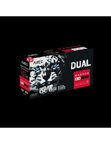 ASUS AREZ-DUAL-RX580-O8G AMD Radeon RX 580 8 GB GDDR5 Asus 90YV0AQB-M0NA00 - 8