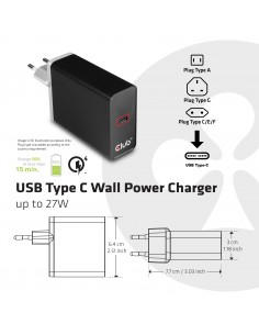 CLUB3D CAC-1901EU mobile device charger Black Indoor Club 3d CAC-1901EU - 1