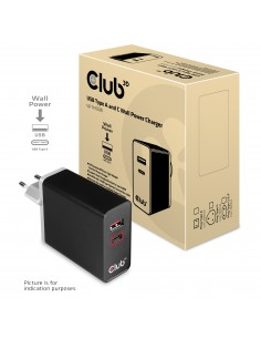 CLUB3D CAC-1902EU mobiililaitteen laturi Musta Sisätila Club 3d CAC-1902EU - 1