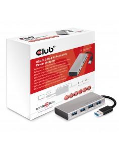 CLUB3D USB 3.0 Hub 4-Port with Power Adapter Club 3d CSV-1431 - 1