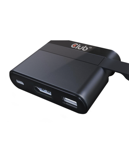 CLUB3D Mini Dock USB Type-C to Displayport1.2 + USB3.0 Type C Charging Club 3d CSV-1537 - 4