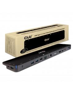 CLUB3D USB TC3.2 Gen 1 Trip dyn PD C60W-100W Telakointi 3.2 (3.1 1) Type-C Musta Club 3d CSV-1564 - 1