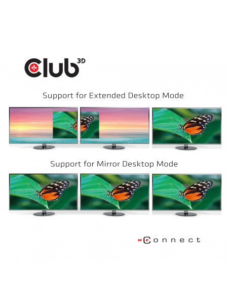 CLUB3D USB TC3.2 Gen 1 Trip dyn PD C60W-100W Telakointi 3.2 (3.1 1) Type-C Musta Club 3d CSV-1564 - 4