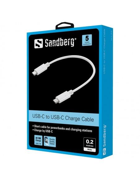 Sandberg USB-C Charge Cable 0.2m Sandberg 136-30 - 2