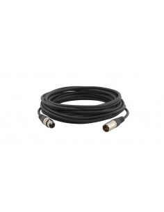Kramer Electronics C-XLQM/XLQF-15 audio cable 4.6 m XLR (3-pin) Black Kramer 95-1211015 - 1