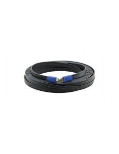 Kramer Electronics C-HM/HM/FLAT/ETH-15 HDMI-kaapeli 4.6 m HDMI-tyyppi A (vakio) Musta Kramer 97-01014015 - 1