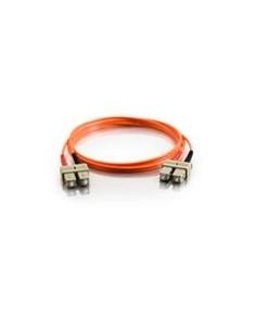 C2G 2m SC/SC LSZH Duplex 50/125 Multimode Fibre Patch cable networking Orange C2g 85304 - 1