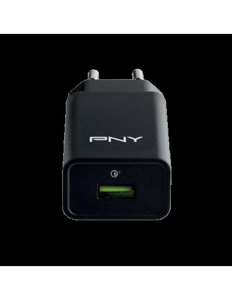 PNY Quick WALL Charger 3.0 Musta Sisätila Pny P-AC-UQ-KEU30-RB - 2