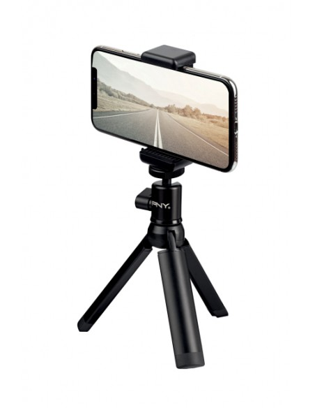 PNY P-T-BTRI001K-RB tripod Smartphone/Action camera 3 leg(s) Black Pny P-T-BTRI001K-RB - 1