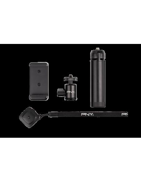 PNY P-T-BTRI001K-RB tripod Smartphone/Action camera 3 leg(s) Black Pny P-T-BTRI001K-RB - 4