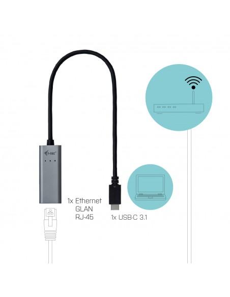 i-tec Metal C31METALGLAN nätverkskort Ethernet 1000 Mbit/s I-tec Accessories C31METALGLAN - 6