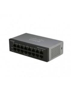 Cisco Small Business SF110D-16HP Ohanterad L2 Fast Ethernet (10/100) Strömförsörjning via (PoE) stöd Svart Cisco SF110D-16HP-EU