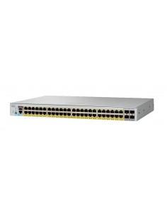Cisco Catalyst 2960-L hanterad L2 Gigabit Ethernet (10/100/1000) Strömförsörjning via (PoE) stöd 1U Grå Cisco WS-C2960L-SM-48PS