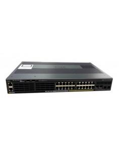 Cisco Catalyst WS-C2960X-24PSQ-L verkkokytkin Hallittu L2 Gigabit Ethernet (10/100/1000) Power over -tuki Musta Cisco WS-C2960X-