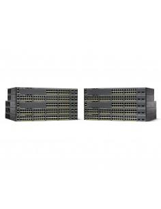 Cisco Catalyst WS-C2960X-48LPD-L nätverksswitchar hanterad L2 Gigabit Ethernet (10/100/1000) Strömförsörjning via (PoE) stöd Cis