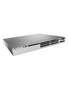 Cisco 3850-24S-S hanterad Inget 1U Svart, Grå Cisco WS-C3850-24S-S - 1