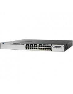 Cisco WS-C3850-24U-S nätverksswitchar hanterad L2/L3 Gigabit Ethernet (10/100/1000) Strömförsörjning via (PoE) stöd 1U Cisco WS-