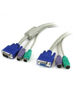 StarTech.com 6 ft. PC99 3-in-1 Keyboard, Monitor, Mouse Extension Cable KVM-kablar Beige 1.83 m Startech 3N1PS2EXT6 - 1