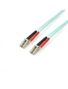 StarTech.com A50FBLCLC3 valokuitukaapeli 3 m LC LSZH OM3 Turkoosi Startech A50FBLCLC3 - 1