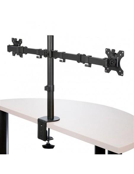 "StarTech.com ARMDUAL2 monitorin kiinnike ja jalusta 81.3 cm (32"") Puristin Musta Startech ARMDUAL2 - 2"