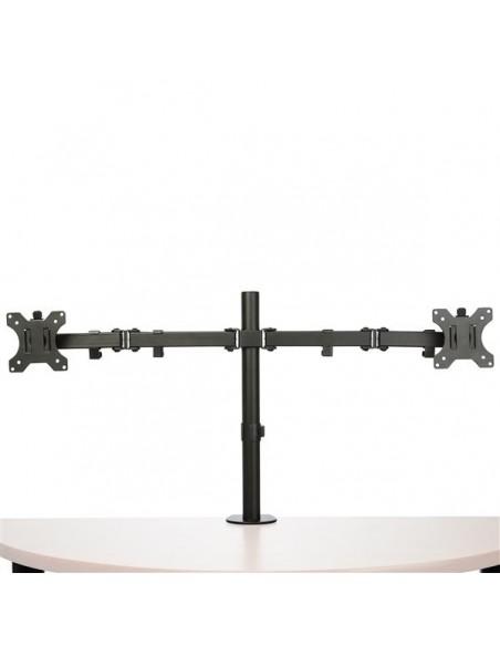 "StarTech.com ARMDUAL2 monitorin kiinnike ja jalusta 81.3 cm (32"") Puristin Musta Startech ARMDUAL2 - 4"