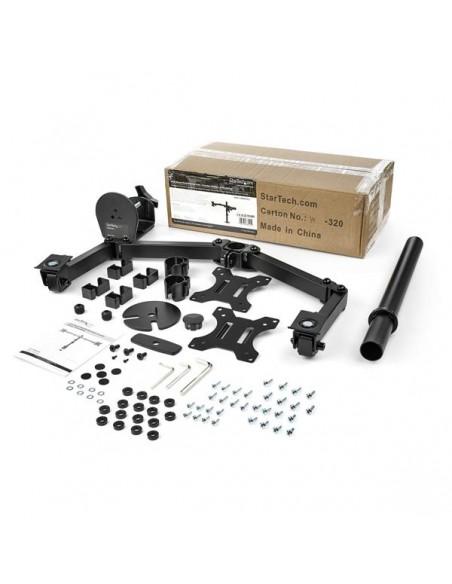 StarTech.com Skrivbordsmonterad arm för dubbelskärm - Tvärstång Ledad Stål Startech ARMDUAL2 - 11