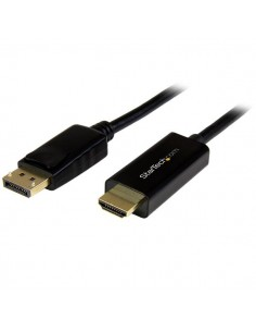 StarTech.com DP2HDMM2MB videokaapeli-adapteri 2 m HDMI-tyyppi A (vakio) DisplayPort Musta Startech DP2HDMM2MB - 1