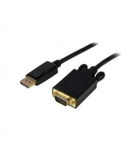 StarTech.com DP2VGAMM15B videokaapeli-adapteri 4.6 m DisplayPort VGA (D-Sub) Musta Startech DP2VGAMM15B - 1