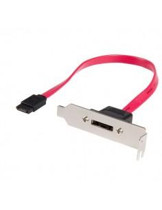 StarTech.com 1ft LP SATA - eSATA Plate Adapter 1x 7-pin Röd Startech ESATAPLT1LP - 1