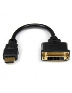 StarTech.com HDDVIMF8IN videokaapeli-adapteri 0.2 m HDMI DVI-D Musta Startech HDDVIMF8IN - 1