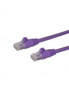 StarTech.com Cat6 Ethernet patchkabel med hakfria RJ45-kontakter - 3 m, lila Startech N6PATC3MPL - 1