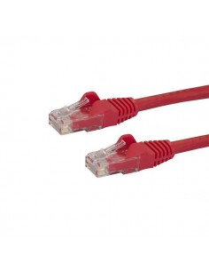 StarTech.com 7m CAT6 Ethernet Cable - Red CAT 6 Gigabit Wire -650MHz 100W PoE RJ45 UTP Network/Patch Cord Snagless w/Strain Star