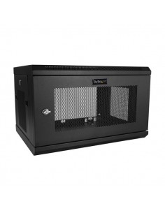 "StarTech.com 2 Post 6U 19"" Wall Mount Network Cabinet - 15"" Deep Locking IT Switch Depth Enclosure Vented Computer/Electronics S"