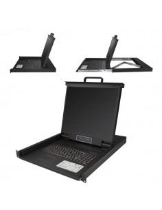 """StarTech.com RKCONS1901 rack console 48.3 cm (19"""") 1280 x 1024 pixels Steel Black 1U Startech RKCONS1901 - 1"""