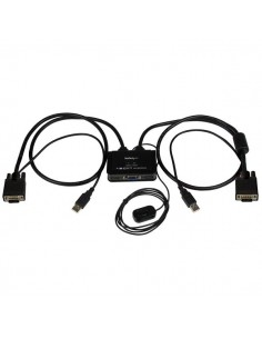StarTech.com VGA 2 portar USB-kabel med KVM-switch - USB-driven fjärrswitch Startech SV211USB - 1
