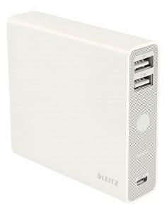 Leitz Complete USB Power Bank 12000 akku- ja paristolaturi Litiumioni (Li-Ion) mAh Valkoinen Kensington 65280001 - 1